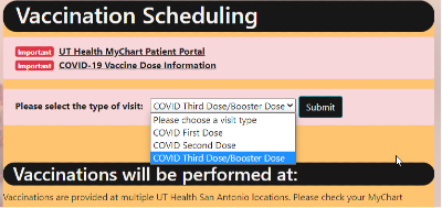 Vaccination scheduling graphic